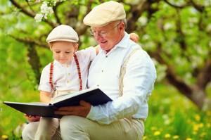 Dziadek w roli niani