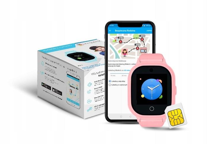 Lokalizator GPS dla dziecka Bezpieczna Rodzina w kolorze różowym