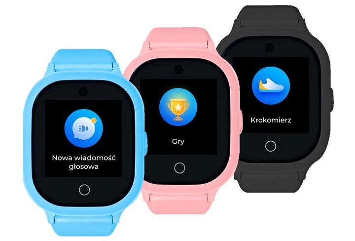 Zegarki GPS dla dziecka GJD.06 w kolorach czarnym, niebieskim, różowym
