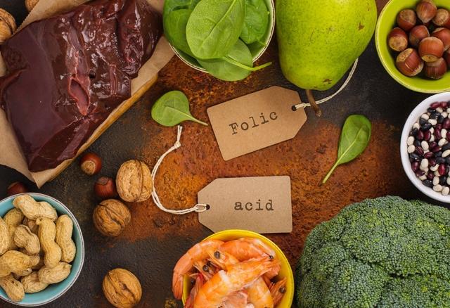 Kwas foliowy w jedzeniu