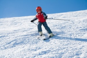 Przez zabawę do nauki - jazda na nartach