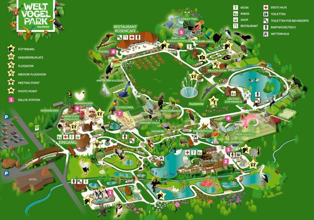 Mapa Weltvogelpark Walsrode