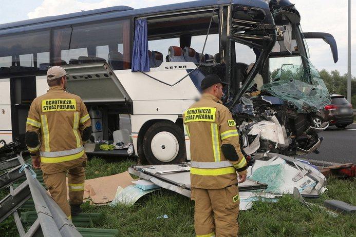 Wypadek autokaru kolonijnego