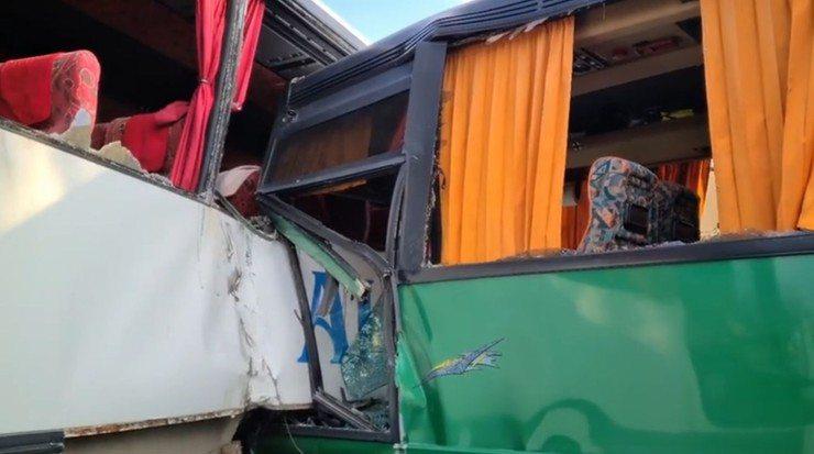 Wypadek autokarów z dziećmi
