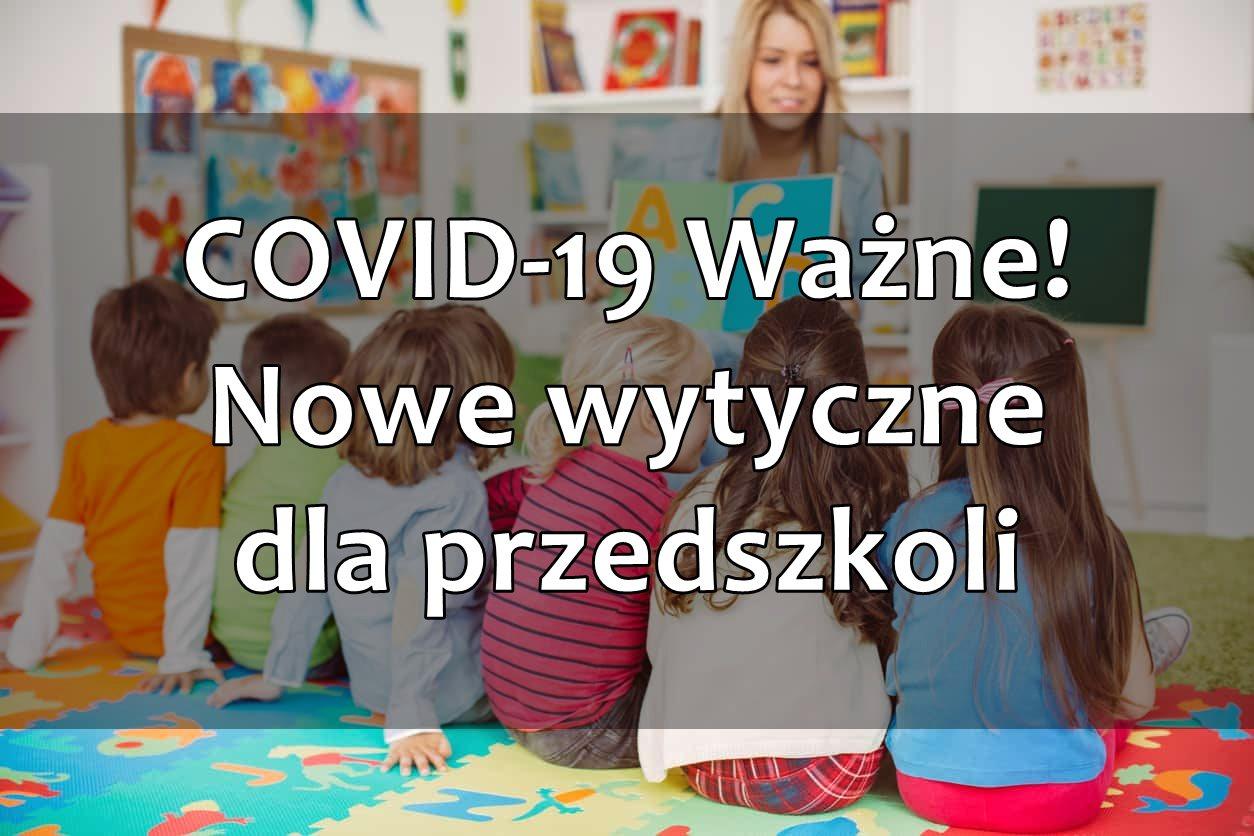 Wytyczne dla przedszkoli COVID