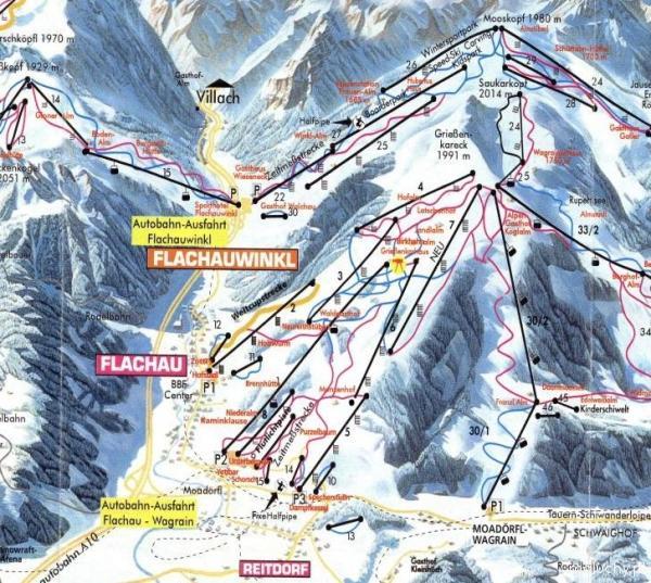 Flachau Austria  city photos : mapa trasy narciarskie Austria Flachau zdjęcia galeria ...