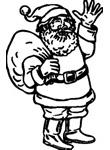 Święty Mikołaj z workiem