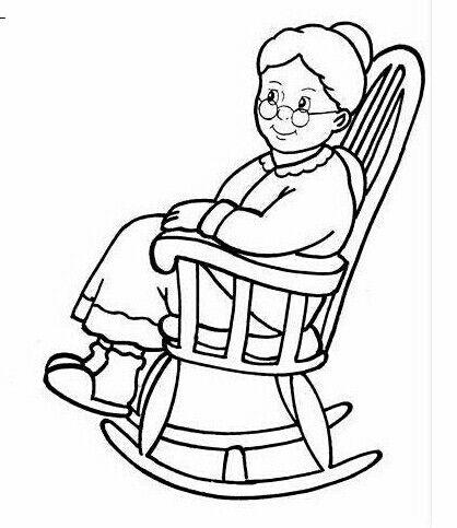 Babcia na fotelu