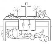 Dożynki w kościele