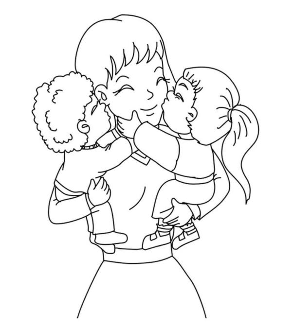 Dzień Matki - mama z dziećmi
