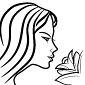 Kobieta z z kwiatem