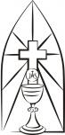 Kielich, krzyż i hosta