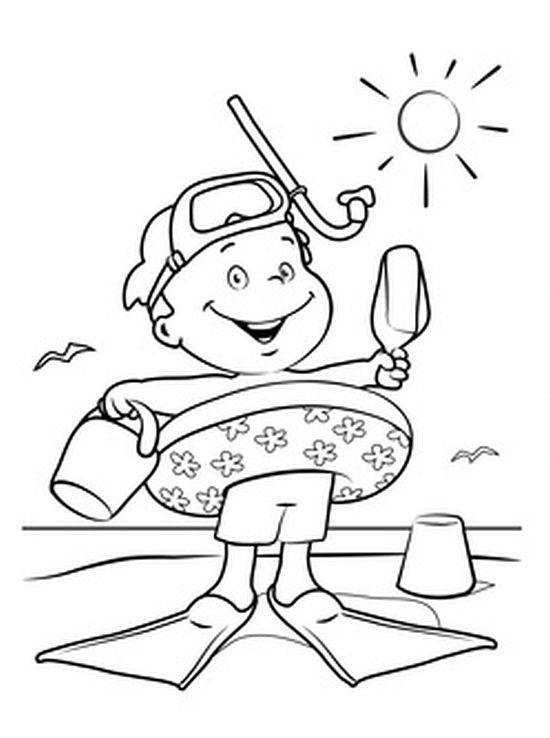 Kolorowanka Lato Na Plazy Maluchy Pl