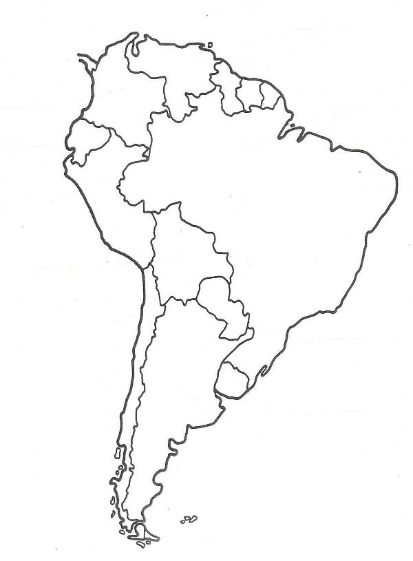 Mapa Ameryki Południowej