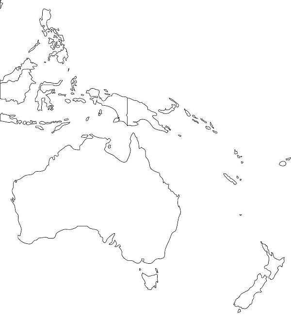 Mapa Australii i Ocenii