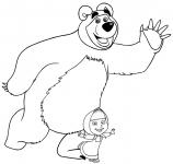 Masza i niedźwiedź kolorowanka