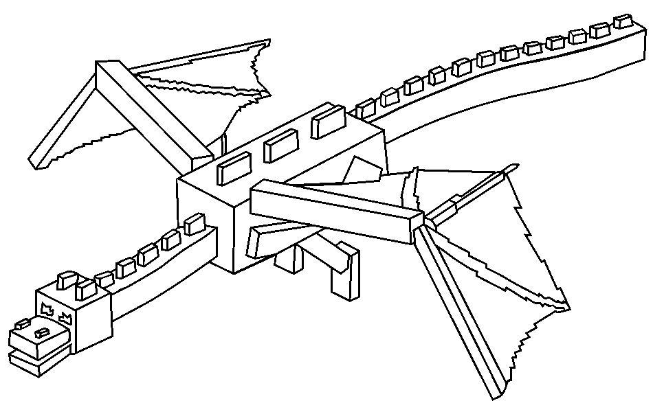 Kolorowanka Ender Dragon 171 Maluchy Pl