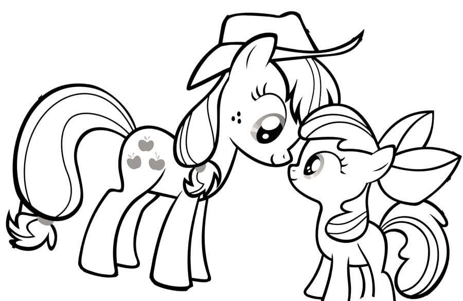 Kolorowanka My Little Pony Maluchy Pl