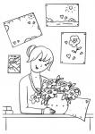 Nauczycielka z kwiatami