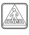 Przejście dla pieszych - znak dorgowy
