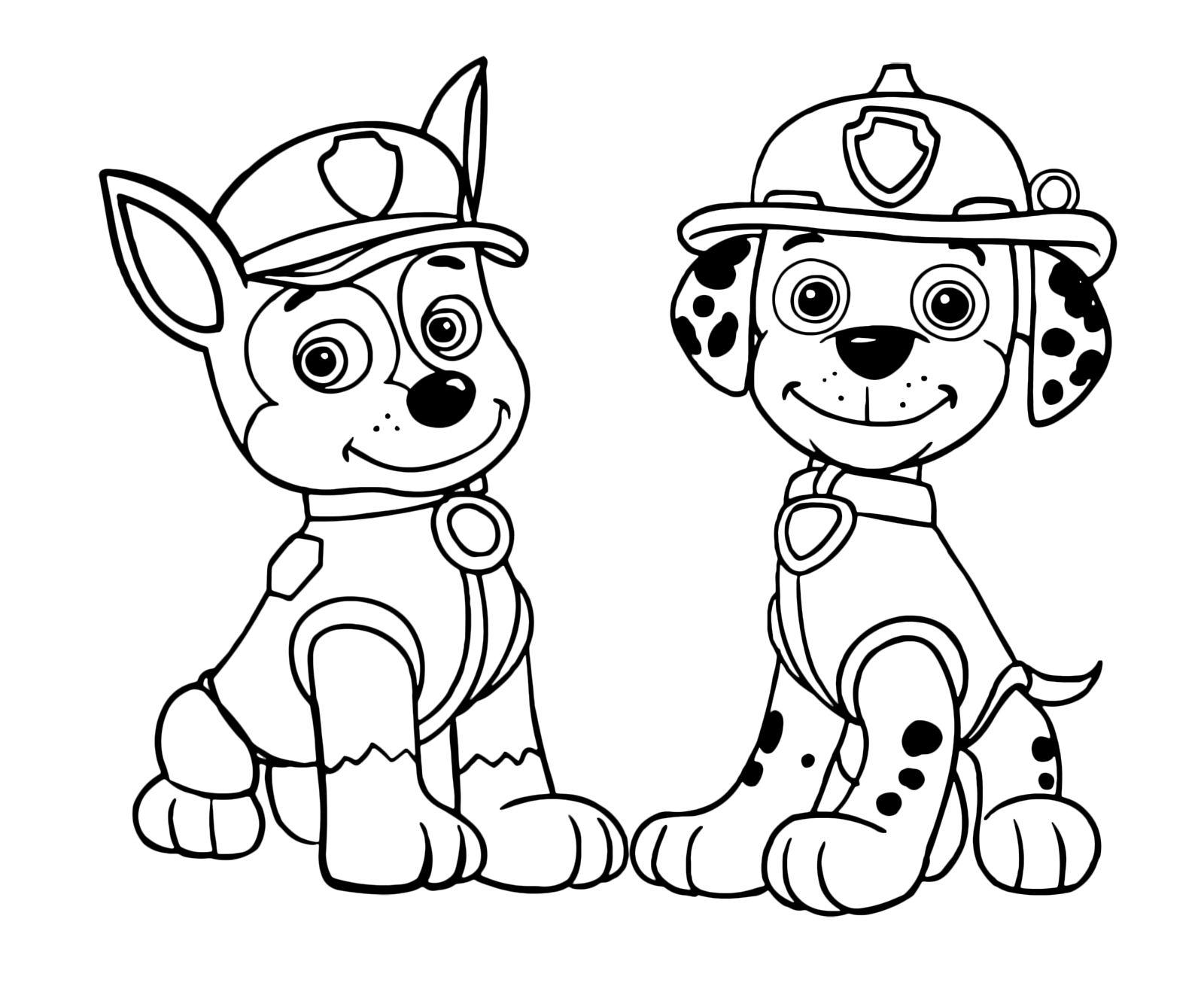 Kolorowanka psi patrol bajka for Disegni di paw patrol