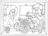 Rodzinka - mama, tata, dzieci