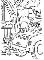 Samochód policyjny - Dalmatyńczyki