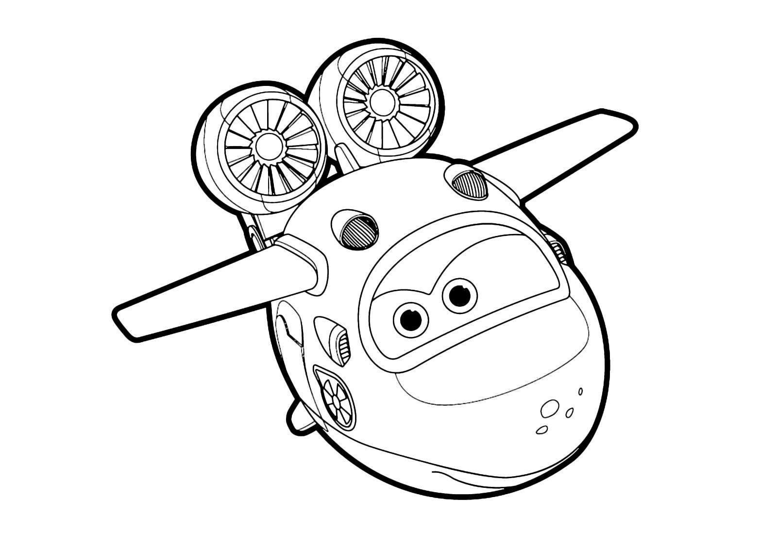 Kolorowanka Super Wings Samolot Maluchy Pl