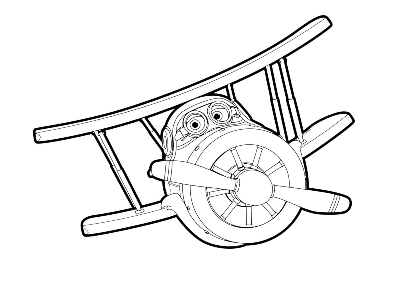 Dzetek Kolorowanka Malowanka Do Wydrukowania Z Samolotem