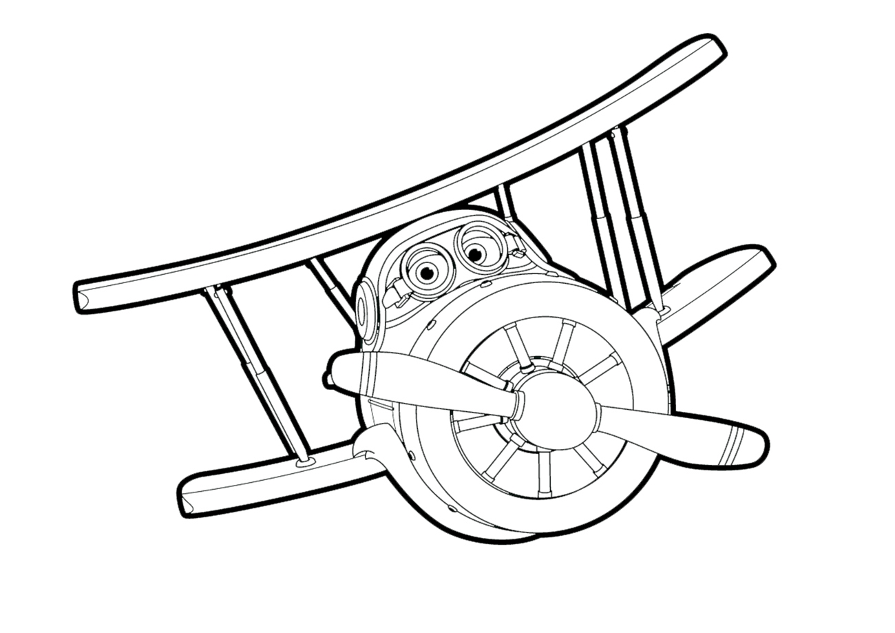 kolorowanka super wings - samolot « maluchy.pl