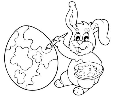 Kolorowanka Zajączek Wielkanocny Maluchypl