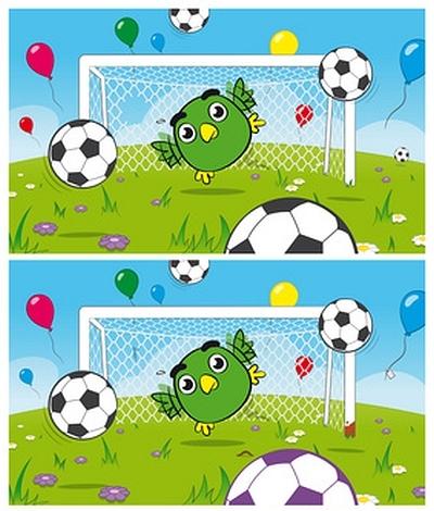 znajdź różnice - Piłka nożna - Na boisku do wydrukowania « maluchy.pl